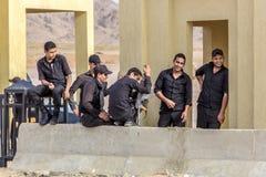 Egyptische overheidsmilitaire politie Stock Foto's