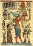 Egyptische papyrus als achtergrond Stock Foto