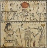 Egyptische papyrus, het Boek van de Doden stock afbeelding