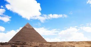 Egyptische Piramide en Hemel Royalty-vrije Stock Afbeeldingen