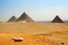 Egyptische piramides Royalty-vrije Stock Fotografie