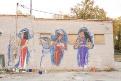 Egyptische Prinses Painting, Memphis, Tennessee royalty-vrije stock afbeeldingen