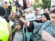 Egyptische revolutie 25 Januari Stock Afbeelding