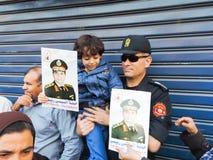 Egyptische revolutie 25 Januari 2014 Stock Afbeelding