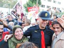 Egyptische revolutie 25 Januari 2014 Stock Foto