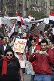 Egyptische Revolutie - Tahrir Stock Afbeeldingen