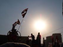 Egyptische Revolutie - vrijheid - 25 Januari Stock Foto's