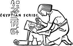 Egyptische Schrijver royalty-vrije illustratie