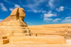 Egyptische sfinx kaïro giza Egypte De achtergrond van de reis Architec royalty-vrije stock foto's