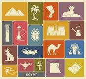 Egyptische symbolen Stock Fotografie