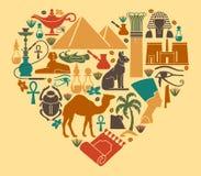 Egyptische symbolen Royalty-vrije Stock Foto's