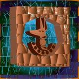 Egyptische symbolen op de achtergrond van metselwerk Royalty-vrije Stock Foto's