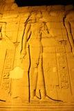 Egyptische tempel in Komombo stock foto's