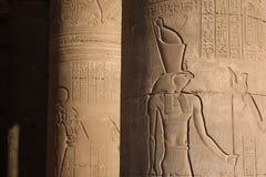Egyptische tempelkolommen Royalty-vrije Stock Fotografie