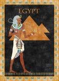 Egyptische vectorachtergrond Royalty-vrije Stock Foto
