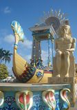 Egyptische vlotter in Cubaans Carnaval stock afbeelding