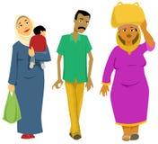 Egyptische Voetgangers stock illustratie