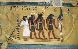 Egyptische Wallpainting 2 Royalty-vrije Stock Fotografie