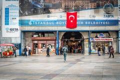 Egyptisk basar (kryddamarknad) i Istanbul, Turkiet Arkivfoto