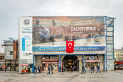 Egyptisk basar (kryddamarknad) i Istanbul, Turkiet Royaltyfri Bild