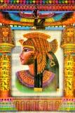 Egyptisk drottning Cleopatra, en berömd kvinna för papyrus av forntid Cleopatra hade uppmärksamheten av två stora romerska genera royaltyfria foton