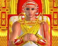 Egyptisk farao Ramses Close upp, placerat på biskopsstolen stock illustrationer