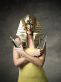 Egyptisk faraomaskering royaltyfria bilder