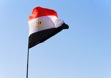 egyptisk flagga Royaltyfria Bilder