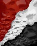 Egyptisk flagga av moln av rök, vektorillustration stock illustrationer