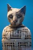 Egyptisk funnen inre gravvalv för mamma katt Arkivfoto