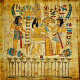 egyptisk gammal papyrus royaltyfri illustrationer