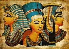 egyptisk gammal papyrus Royaltyfria Bilder