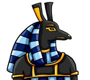 Egyptisk gud Seth stock illustrationer