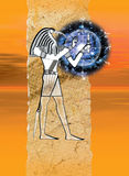 Egyptisk gud Thoth Royaltyfri Bild