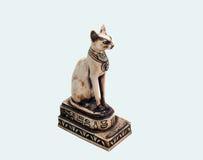 Egyptisk kattstaty Arkivbilder