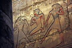 egyptisk lättnad royaltyfria bilder