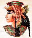 egyptisk målningspapyrus royaltyfri bild