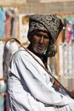 Egyptisk man med turbanen i Kairo. Egypten Royaltyfria Foton