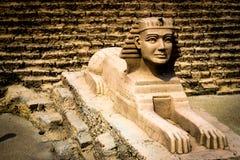 egyptisk modell Arkivfoton