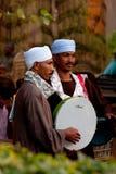 Egyptisk musikmusikband i Kairo. Egypten Arkivbilder