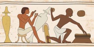 Egyptisk nationell teckning Arkivfoto