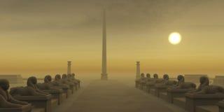 egyptisk obelisk Arkivbild