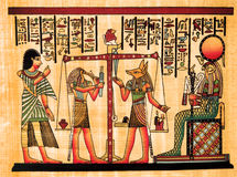 egyptisk papyrus Royaltyfria Foton