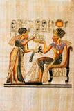 egyptisk papyrus Royaltyfria Bilder