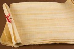 Egyptisk papyrusrulle Arkivbilder