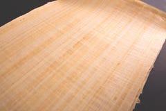 Egyptisk papyrusrulle för tomt meddelande Arkivbild