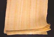 Egyptisk papyrusrulle för tomt meddelande Arkivfoton