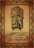 egyptisk parchment vektor illustrationer
