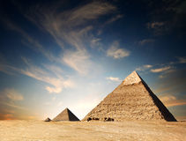 egyptisk pyramid royaltyfri bild