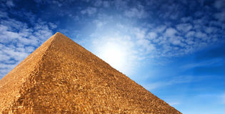 egyptisk pyramid Royaltyfria Foton